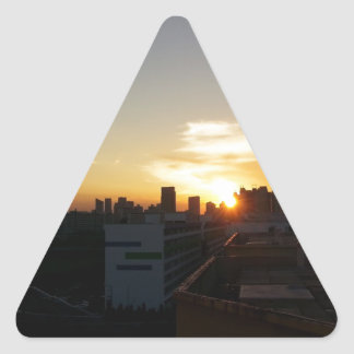 Beautiful Sunset Premium Triangle Sticker