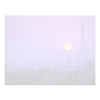 Beautiful Sunset: Red sunset on Paris and Eiffel T Letterhead