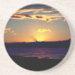 "Beautiful Sunset Sandstone Coaster<br><div class=""desc"">This is a simple photo of a sunset in Quebec,  Canada. It was a beautiful summer night in La Pocatiere,  a small town in the 