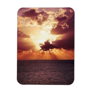 Beautiful sunset scenery magnet