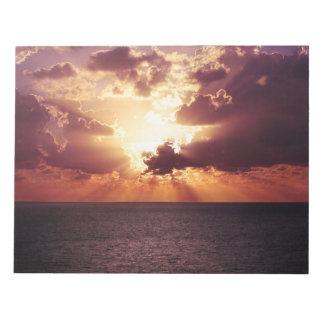 Beautiful sunset scenery notepad