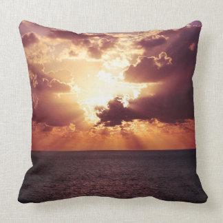 Beautiful sunset scenery throw pillow