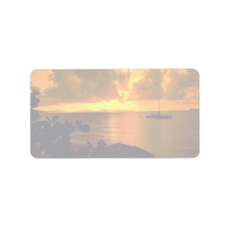 Beautiful Sunset: Sebastian's, Virgin Gorda, Briti Address Label