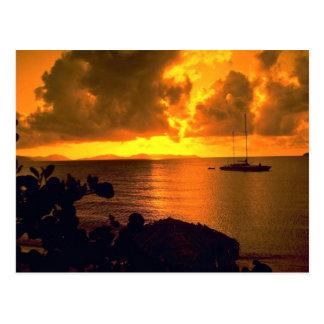 Beautiful Sunset: Sebastian's, Virgin Gorda, Briti Postcard