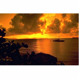 Beautiful Sunset: Sebastian's, Virgin Gorda, Briti Standing Photo Sculpture
