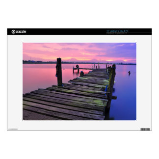 "Beautiful Sunset Sky And Boardwalk 15"" Laptop Skin"