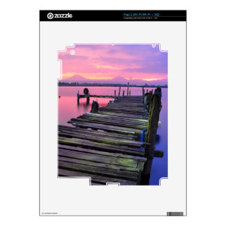 Beautiful Sunset Sky And Boardwalk Decals For The iPad 2