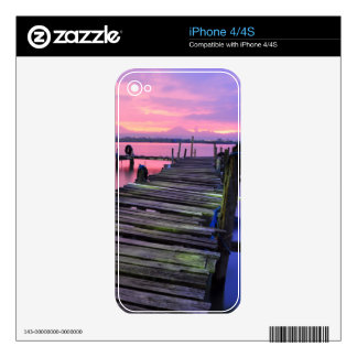 Beautiful Sunset Sky And Boardwalk iPhone 4 Decals