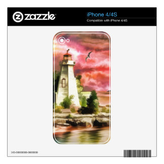 Beautiful Sunset Sky And Lighthouse Skin For iPhone 4