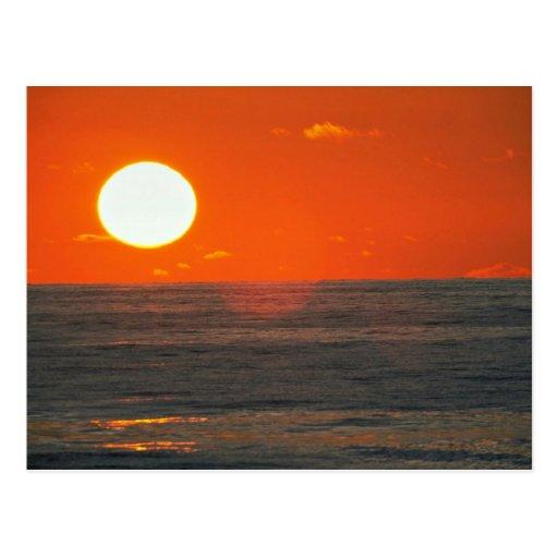 Beautiful Sunset: Solana Beach, California Postcard
