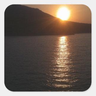 Beautiful Sunset Square Sticker