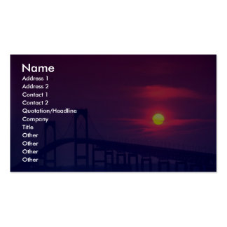 Beautiful Sunset: Sun setting over a bridge, Newpo Double-Sided Standard Business Cards (Pack Of 100)