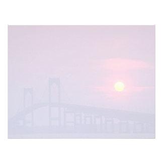 Beautiful Sunset: Sun setting over a bridge, Newpo Letterhead