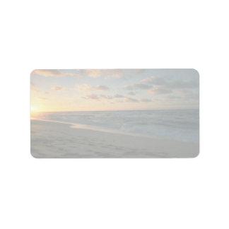 Beautiful Sunset: Sunset Beach, Oahu, Hawaii Address Label