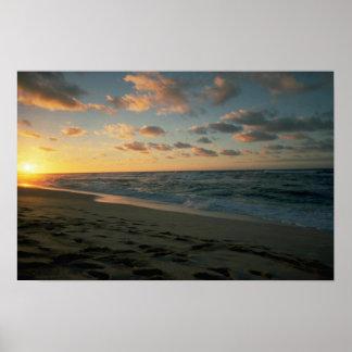 Beautiful Sunset Sunset Beach Oahu Hawaii Print