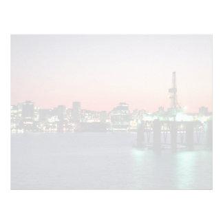 Beautiful Sunset: Sunset off newly built oil rig, Letterhead