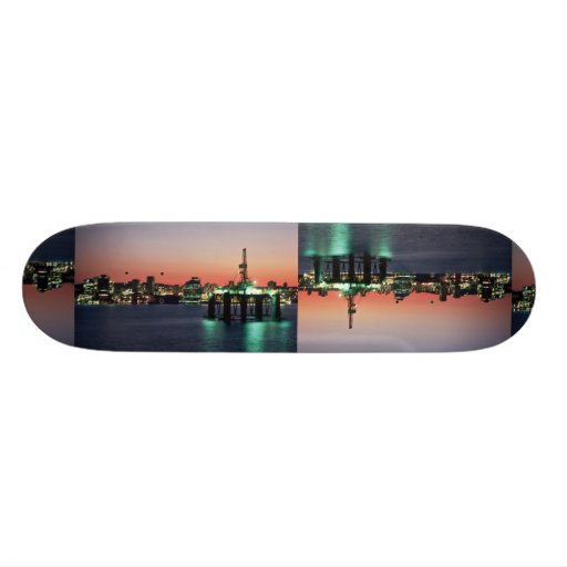 Beautiful Sunset: Sunset off newly built oil rig, Custom Skateboard
