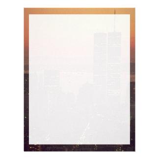 Beautiful Sunset: Sunset on the World Trade Center Letterhead
