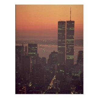 Beautiful Sunset: Sunset on the World Trade Center Post Card