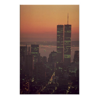 Beautiful Sunset: Sunset on the World Trade Center Poster