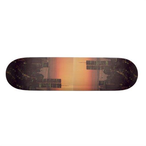 Beautiful Sunset: Sunset on the World Trade Center Skateboard Decks