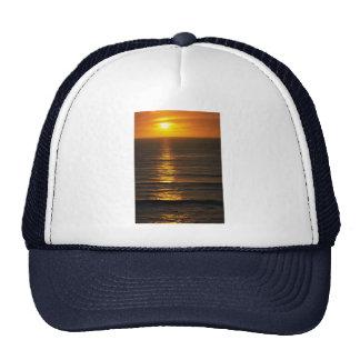 Beautiful Sunset: Swami's Encintas, California Mesh Hats