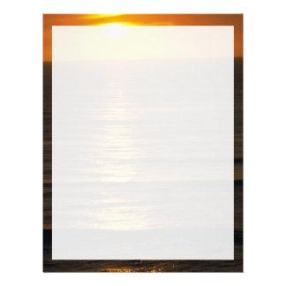 Beautiful Sunset: Swami's Encintas, California Letterhead