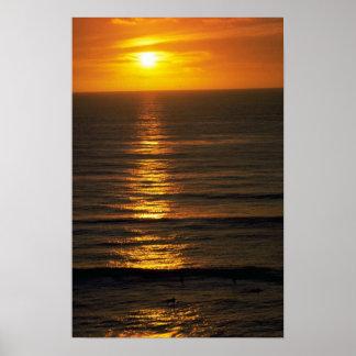 Beautiful Sunset: Swami's Encintas, California Posters
