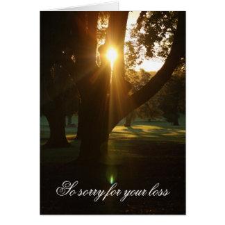 Beautiful Sunset Sympathy Card
