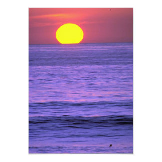 Beautiful Sunset: Table Top Reef, Solana Beach, Ca 5x7 Paper Invitation Card