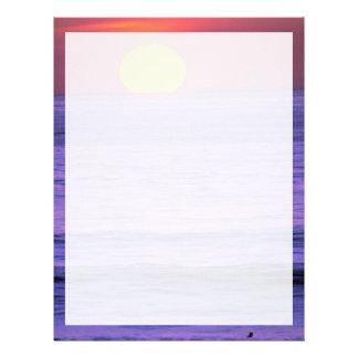 Beautiful Sunset: Table Top Reef, Solana Beach, Ca Letterhead