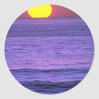 Beautiful Sunset: Table Top Reef, Solana Beach, Ca Round Stickers