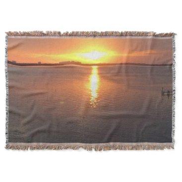 Beach Themed Beautiful Sunset Throw Blanket