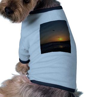 Beautiful Sunset: Todos Santos Island, Baja, Mexic Dog Tee Shirt