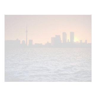 Beautiful Sunset: Toronto skyline at sunset, Ontar Letterhead