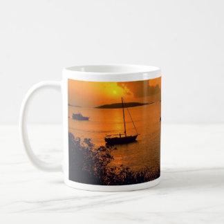 Beautiful Sunset: Virgin Gorda, British Virgin Isl Classic White Coffee Mug