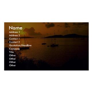 Beautiful Sunset: Virgin Gorda, British Virgin Isl Double-Sided Standard Business Cards (Pack Of 100)