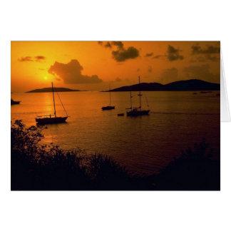 Beautiful Sunset: Virgin Gorda, British Virgin Isl Greeting Card
