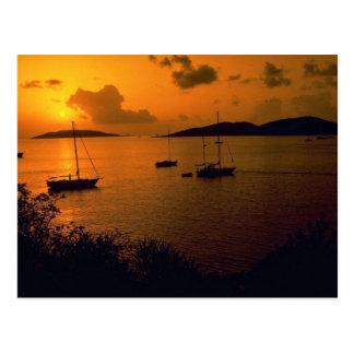 Beautiful Sunset: Virgin Gorda, British Virgin Isl Postcard