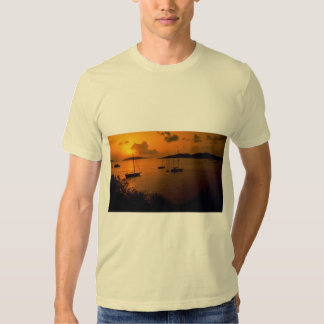 Beautiful Sunset: Virgin Gorda, British Virgin Isl T Shirts