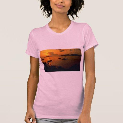 Beautiful Sunset: Virgin Gorda, British Virgin Isl Shirts