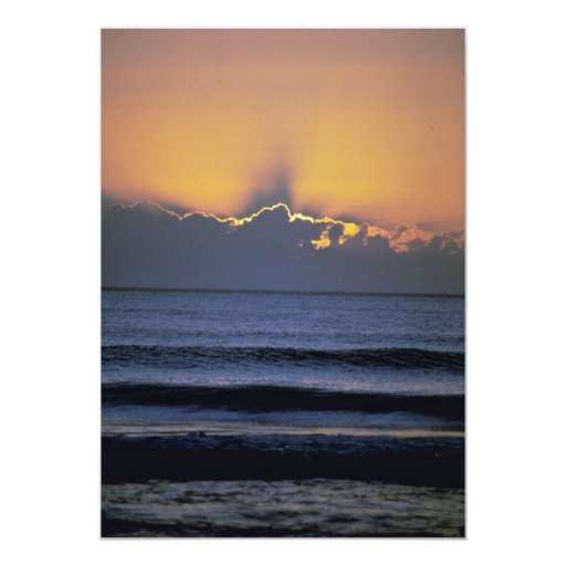 Beautiful Sunset: Virginia Beach, Virginia Personalized Announcements