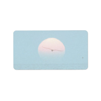 Beautiful Sunset: Virginia Beach, Virginia Address Label