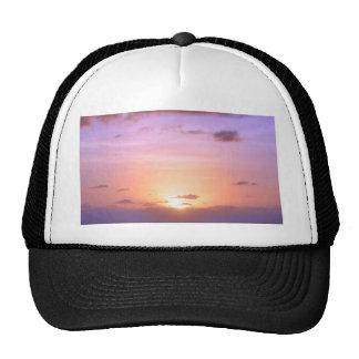 Beautiful Sunset w/ Orange Pink Purple at Sea Trucker Hat