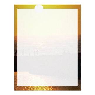 Beautiful Sunset: Waimea Bay, North Shore, Oahu, H Letterhead