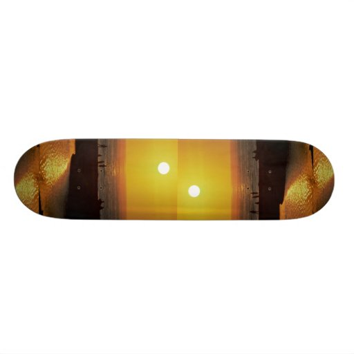 Beautiful Sunset: Waimea Bay, North Shore, Oahu, H Skate Deck