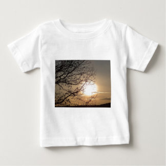Beautiful sunset with branchs baby T-Shirt