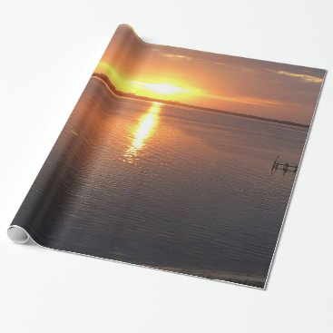 Beach Themed Beautiful Sunset Wrapping Paper