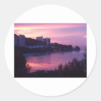 Beautiful sunsets classic round sticker
