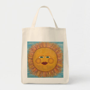 Beautiful Sunshine - Grocery Tote Bag